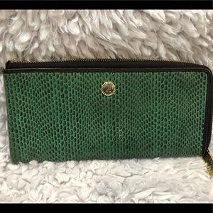Handbags - Faux Snake Green Wallet